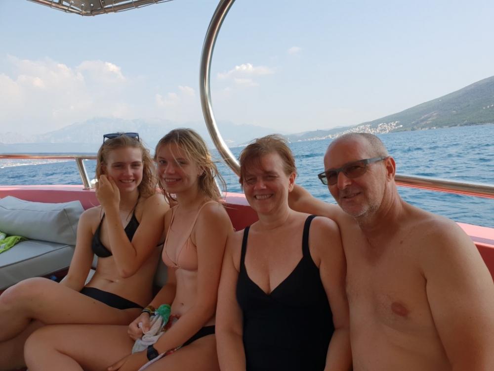 Boottocht in de baai van Kotor